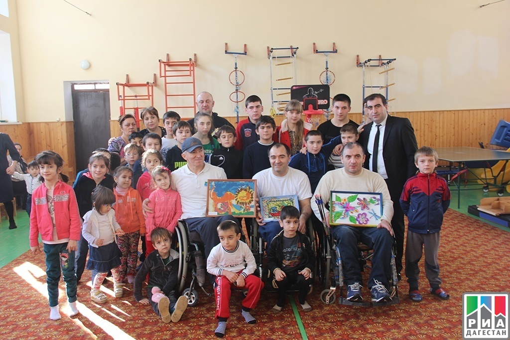 Russian wheelchair rugby champions visit Center for Children with Disabilities in Makhachkala